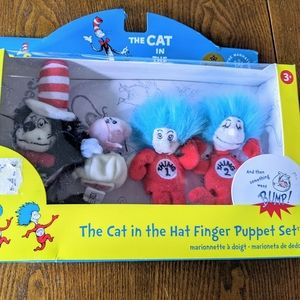 Dr. Seuss THE CAT IN THE Hat Finger Puppet Boxed S